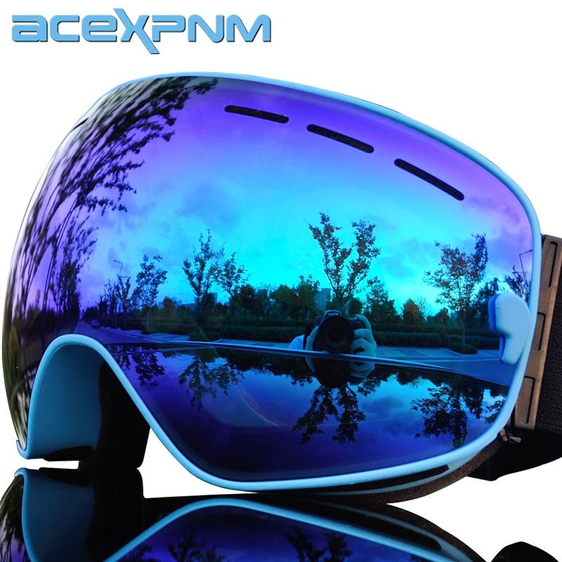 ACEXPNM Brand Ski Goggles Men Women Snowboard Goggles Glasses For Skiing UV400 Protection Snow Skiing Glasses Anti-fog Ski Mask