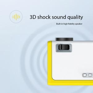 Image 5 - Neue Tragbare Full HD Mini Projektor 1920*1080P Unterstützung AV USB SD Karte USB 1800 Lumen Mini Hause projektor Tragbare Beamer
