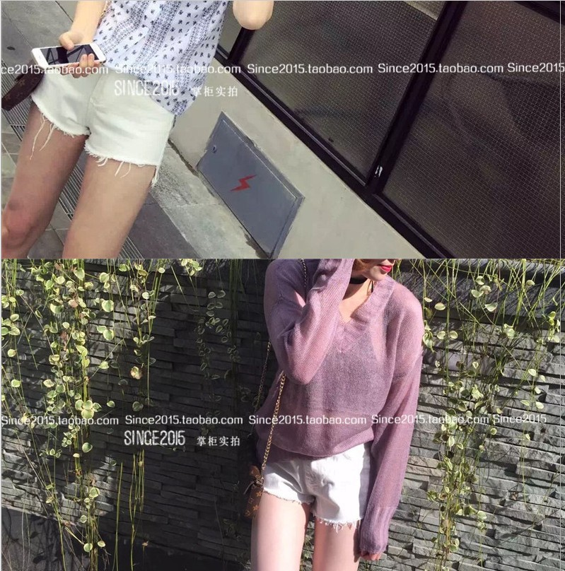 Korean-style High-waisted Buckle With Holes Denim Shorts Female Summer Fat Mm Large Size Loose Pants Slimming-Flash Hot Pants Fa