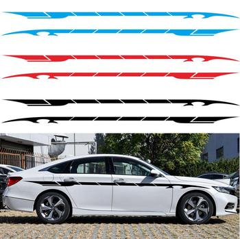 2pcs 350cm Car sticker Car Side Body Door Graphics Long Stripe Vinyl Decals Decor Sticker for volkswagen audi a3 a4 b8 image