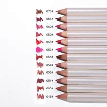 新12色/セットメイクリップライナー鉛筆化粧品キットナチュラルロング持続防水顔料リップライナーペンドロップシッピング