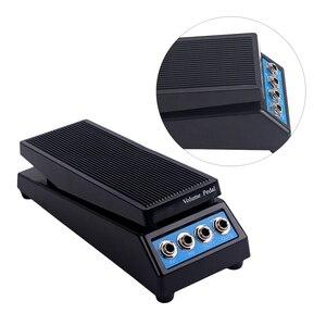 Image 3 - 볼륨 페달 내구성 플라스틱 전문 4 채널 효과 페달 무료 커넥터 기타 악기베이스