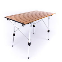 Desk Outdoor Table Folding Camping Imitation-Wood Al-Ultralight Picnic Hiking Silver