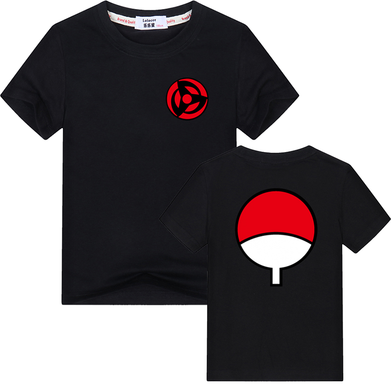 2021 Hot Fashion Anime T Shirt Naruto Short Sleeve T-Shirt For Kids Unisex O-Neck Shirts Uchiha Family Brand tops 1