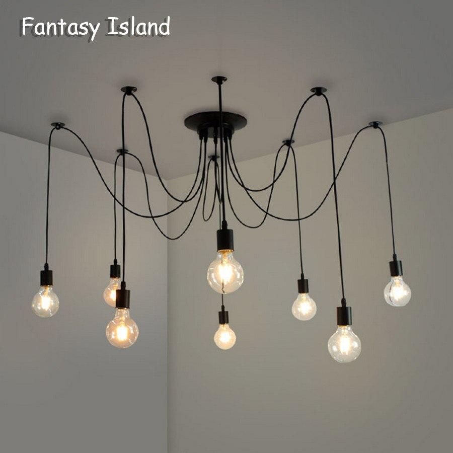 lampy sufitowe wiszące nowoczesne pająk