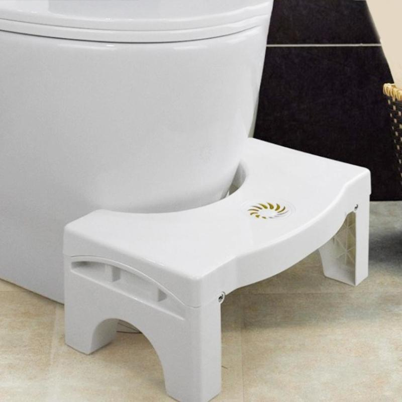 Foldable Squatting Stool Non-slip Toilet Footstool Anti Constipation Stools Bathroom Adjustable Height Squatty Potty