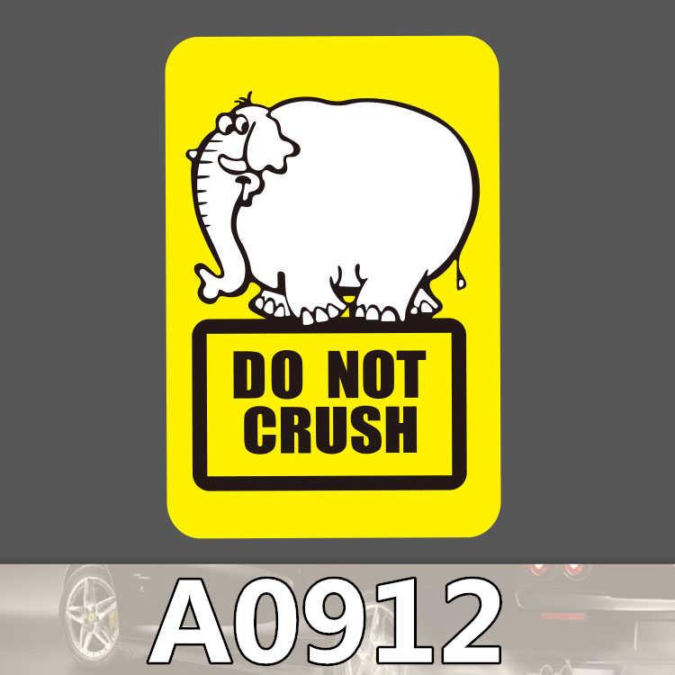 Uyarı işareti tehlike çıkartmalar Logo PVC su geçirmez bagaj araba Guaitar kaykay telefon dizüstü bisiklet Moto çıkartmaları