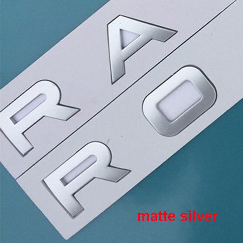 رسائل شعار ل رينج روفر فيلار SV ذاتية السيرة الطبعة النهائية ديسكفري الرياضة سيارة التصميم هود جذع شارات لوجو ملصق