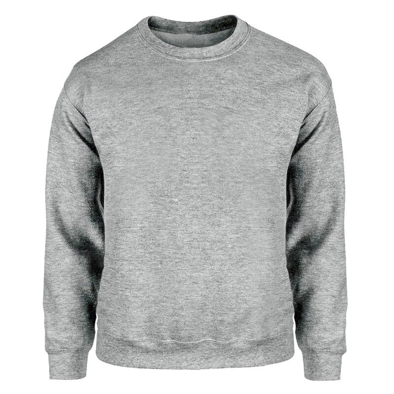 Sweatshirts Hoodies Men Solid Color Sweatshirt Hoodie Sportswear Streetwear Gray White Black Dark Blue Red Many Color Crewneck