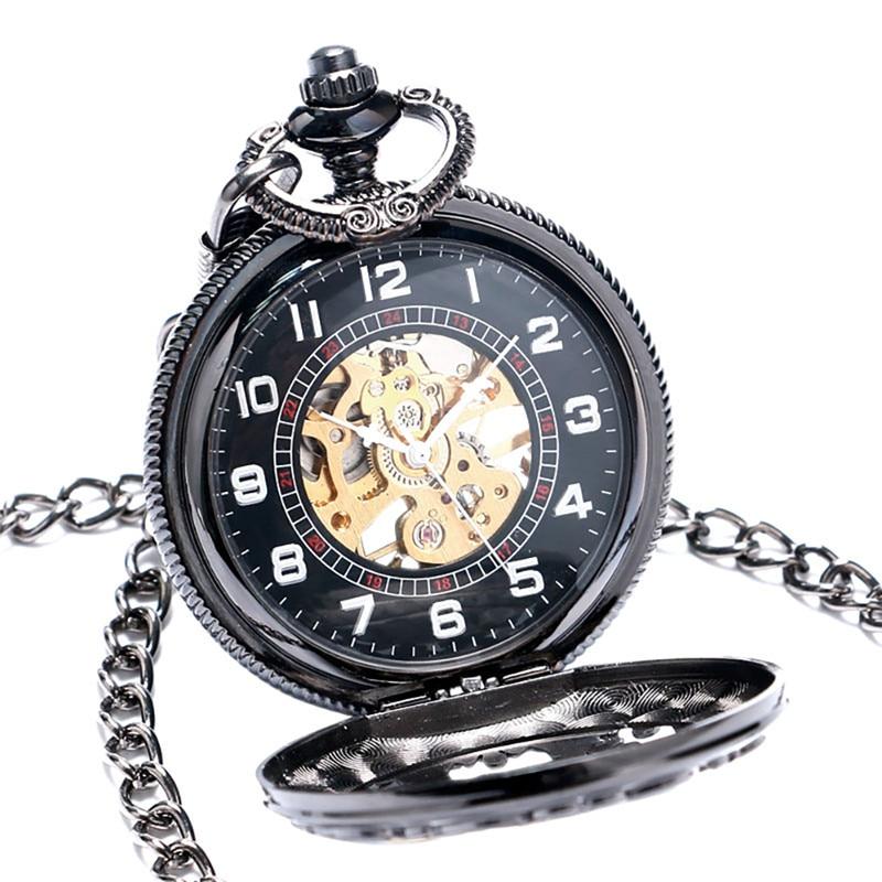 Steampunk pai pai design relógios handwinding mecânico