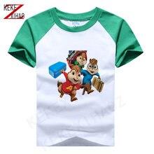 Новинка футболка для мальчиков с принтом Эльвин и чипмункс хлопковая