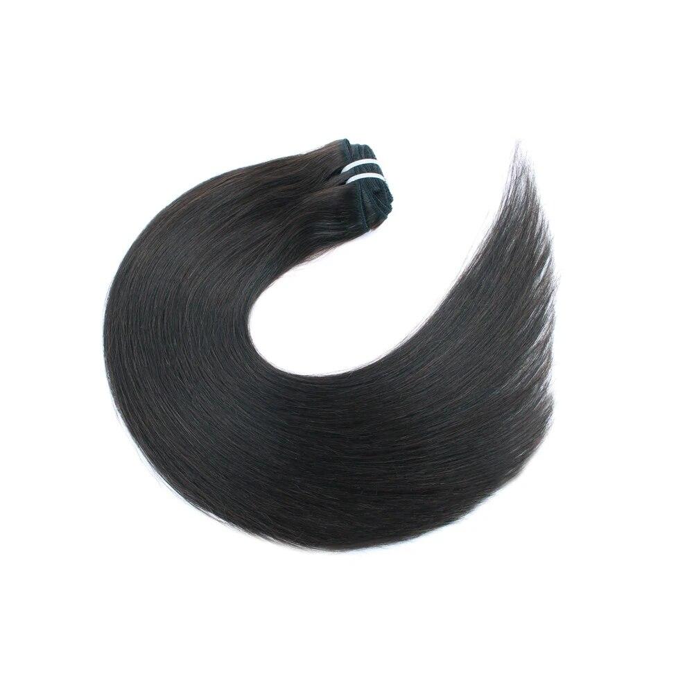 Kayla HAIR 7 Clips Human Hair Long Straight Clip In Hair Extensions False Hair Black Hair Pieces for Women