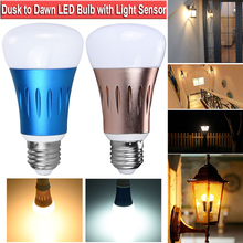 E27 15W Automatic On Off Street Light Dusk to Dawn Light Bulb Light Sensor Lamp for Porch Path Garden Aluminum PC Shell D30 sensor light bulb dusk to dawn led smart lighting bulbs 7w 12w e27 b22 automatic on off indoor outdoor yard garage garden