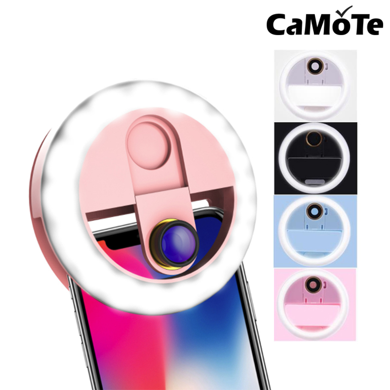 selfies light lamp Ring Light 0 63X Wide-Angle Tablet LED Fill-in Light Rechargeable Photography Camera Selfie Flash Lamp For Xi