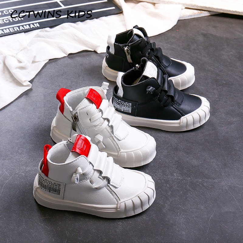 CCTWINS Kids Shoes 2019 Autumn Fashion Girls Letter Casual Shoes Boys Breathable High Top Sneakers For Children Trainers FH2525