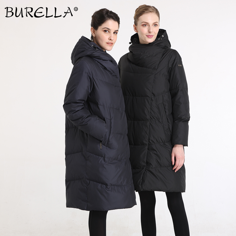 BURELLA Jacket Turtleneck Hooded Thick Coat Female Winter Women Cotton Outdoor VN-179MW title=