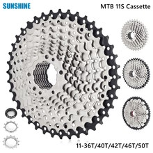 SUNSHINE MTB 11 Speed Cassette 11-36T/40T/42T/46T/50T Mountain Bike 11S Freewheel Wide Ratio Flywheel Sprockets For M8000 M9000