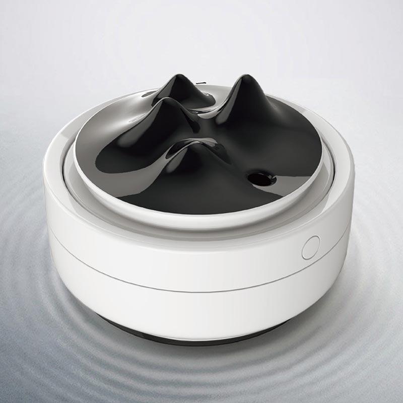 ELOOLE USB Air Humidifier Mountain Essential Oil Diffuser 300ML Car Air Freshener Purifier Mini Humidification With Night Lights