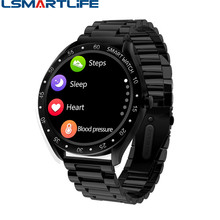 F13 Full Screen Touch Men Steel Smart Watch Sports Heart Rate Pedometer Fitness Tracker Waterproof IP68