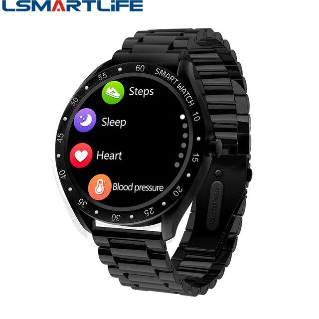 F13 Full Screen Touch Men Steel Smart Watch Sports Heart Rate Pedometer Fitness Tracker Waterproof IP68