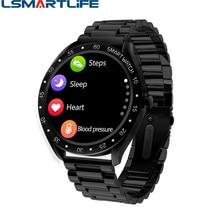 F13 pełny ekran dotykowy mężczyźni inteligentny zegarek ze stali sport krokomierz z pomiarem tętna opaska monitorująca aktywność fizyczną wodoodporny IP68