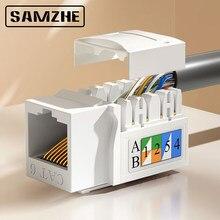 SAMZHE Katze 5 Cat 6 UTP Netzwerk Modul Werkzeug-freies RJ45 Stecker Kabel Adapter FÜR AMP heißer
