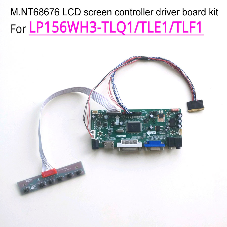 NT68676 HDMI+DVI+VGA LCD Lvds Controller Driver Board Kit for Panel B156XTN02.2