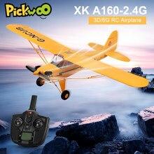 XK A160 RTF EPP Drone RC Remoto Modelo de Aeronave Controlada por Rádio RC Avião Espuma de Brinquedo Aéreo Plano 3D / 6G Sistema Wingspan de 650mm vs X450 A800 A600