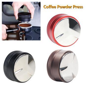 51mm 304 Stainless Steel Coffee Tamper Base Clear Body Barista Espresso Coffee Press Coffee Powder Hammer недорого