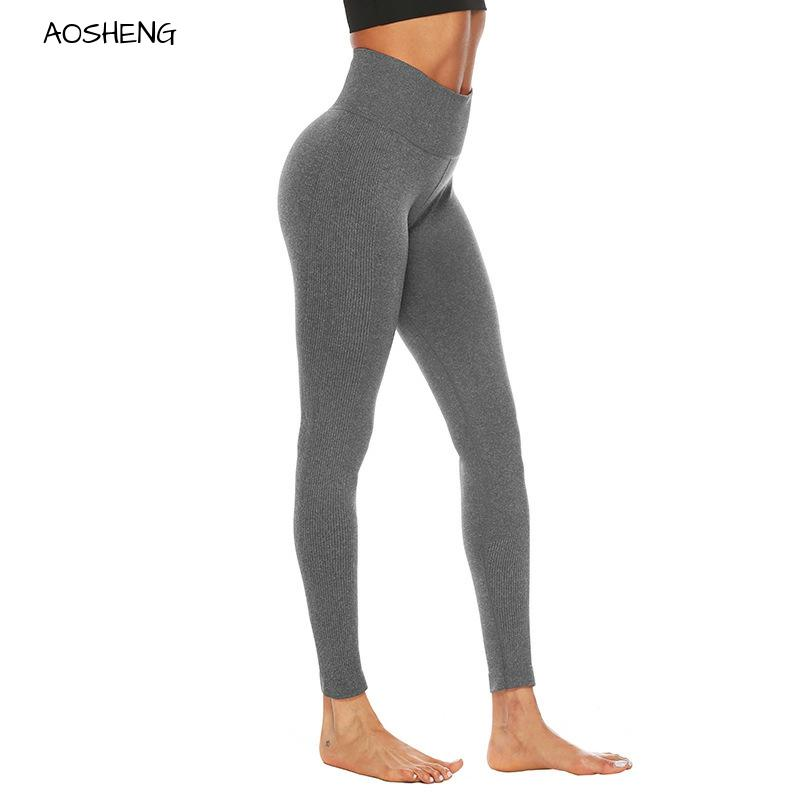 Grey Seamless Leggings Black High Waisted Workout Leggings Fitness Women Casual Spring Summer Sport Jogging Jeggings XL