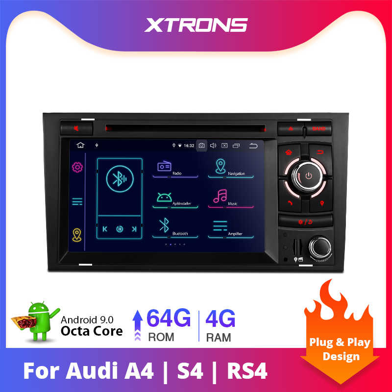 XTRONS PX5 7 ''Android 9.0 Stereo Car DVD Player Rádio GPS OBD para Audi A4 S4 B6 B7 RS4 2002-2005 2006 2007 2008 Para SEAT Exeo