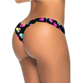 2020 New Hot Sale Black V Shape Sexy Brazilian Bikini Bottom Women Swimwear Swimsuit Trunk Tanga Micro Briefs Panties Underwear 7