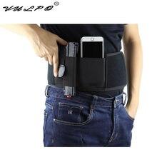 VULPO – étui de pistolet dissimulé, bande ventrale en néoprène de haute qualité, Design droitier pour Glock 17,19 ,Ruger LCP, etc.