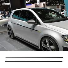 2PCS Car Door Side Skirt Sports Stickers For Volkswagen VW Golf 7 5 4 3 6 2 1 MK7 MK5 MK2 MK6 MK4 MK1 MK3 GTI Auto Accessories