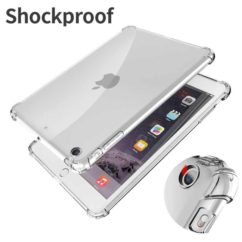 Schokbestendig Siliconen Case Voor Ipad Mini Air Pro 1 2 3 4 5 6 7 7.9 9.7 10.2 10.5 11 flexibele Bumper Clear Transparant Back Cover