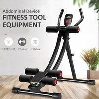 Abdominal Trainer Folding Ab Rollers Fitness Tool Adjustable Muscle Training Device Home Gym Exercises Fitness Equipment