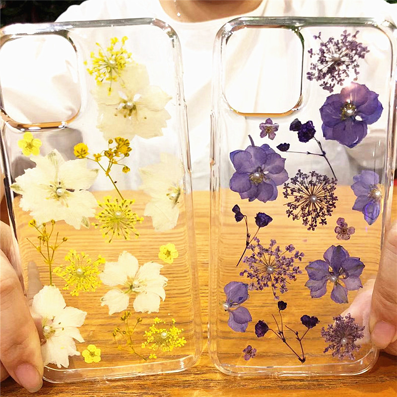 Real Dried Flowers Clear TPU Case for iPhone 11/11 Pro/11 Pro Max 21