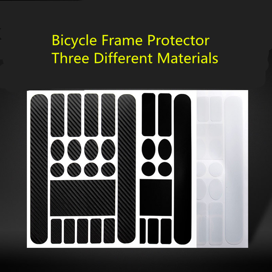 MTB Mountain Bike Protect Chain Sticker Decal Folding Road Bicycle Frame Front Fork Protective Film Anti-scratch Leather Sticker