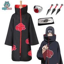 Cosplay conjunto anime naruto akatsuki/uchiha itachi traje halloween festa de natal sasuke roupas capa adulto crianças cosplay