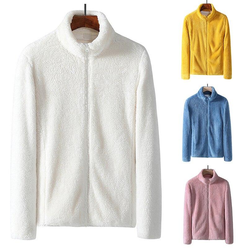 Winter Coral Fleece Coat Women's Anti-snow Jacket Double-sided Fleece Men's Thickened Outfit Warm Outdoor Top Stormcoat Liner