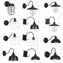 Lámpara de pared de pasillo de cocina de dormitorio decoración exterior Interior luz de pared Vintage Industrial de creatividad americana