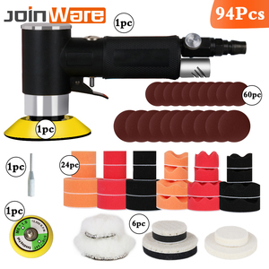 Image 2 - NEW Air Sander Mini Pneumatic Grinding Machine Set  2inch  3inch Buffing Pad Polishing Pad Kit For Car Polisher