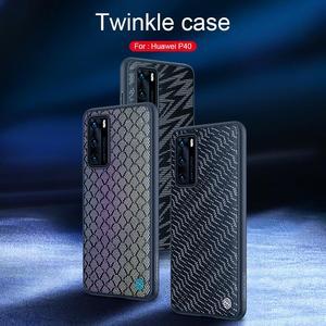 Image 5 - Funda Fall Für Huawei P40 p40 Pro Abdeckung NILLKIN Twinkle Fall Polyester Reflektierende Telefon Zurück Abdeckung Tasche Für Huawei P40 pro Fällen
