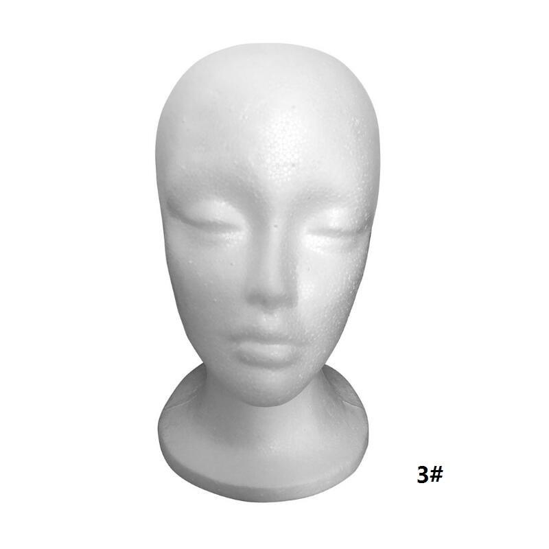 Female Mannequin Head Polystyrene Foam Hat Glasses Display Hat Wig Display Stand Rack Mannequin Manikin Head Model