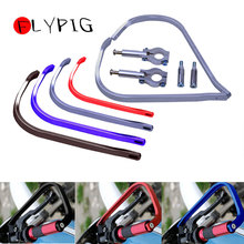 FLYPIG New Universal Motorcycle Handguard Aluminum 7/8 22mm Handlebar Hand Brush Guards Black Red Blue Silver
