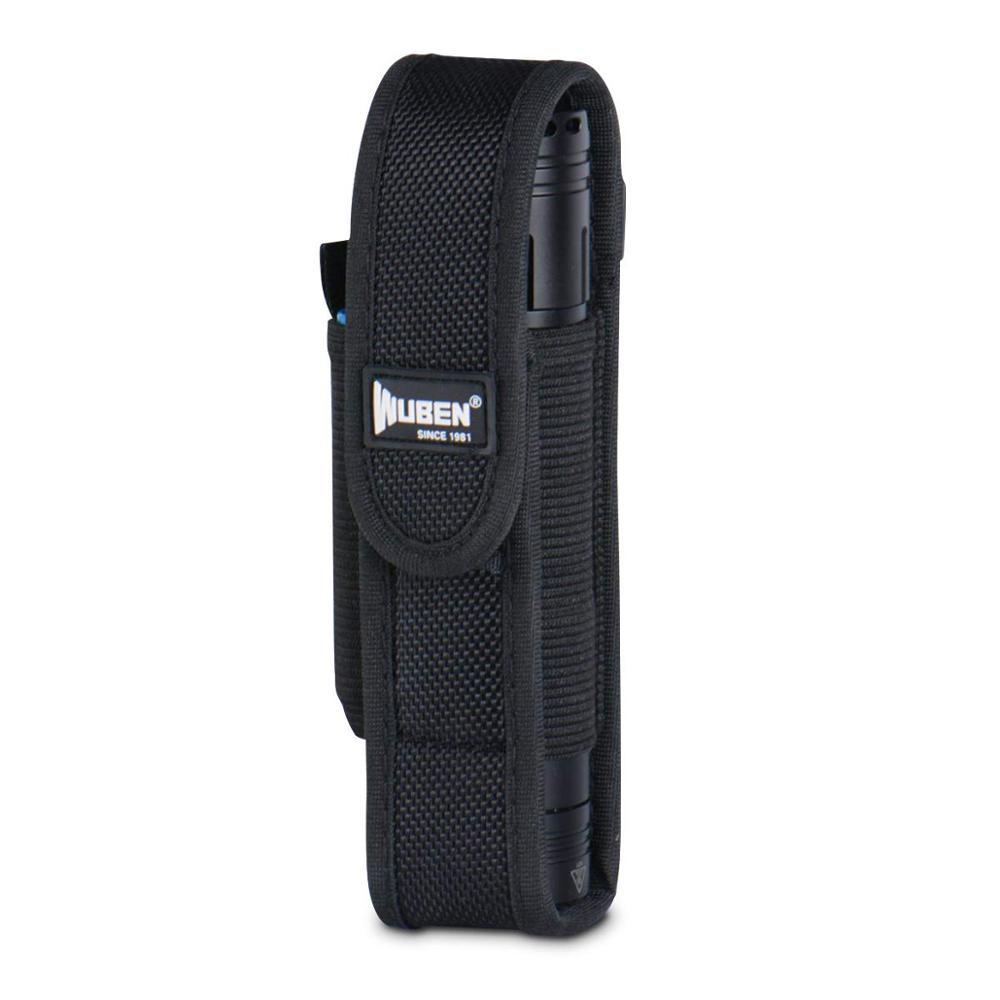 WUBEN Flashlight Pouch Holster Tactical Flash Light Nylon Pouch Holder Belt Adjustable Heavy Duty Flashlight Carry Case 6