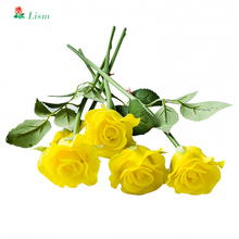 Rose White Artificial Silk Flowers High Quality Bouquet 30cm 1 Pcs Fake Decoration for Wedding Home  San Valentin