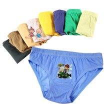 Inner-Wear Panties Boys Briefs Baby Cartoon Solid 12pcs/Lot 2-12years