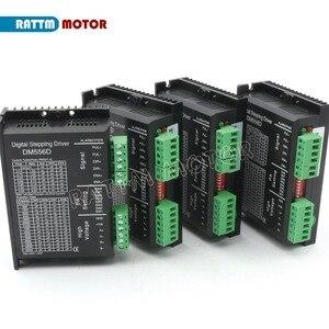 Image 2 - ЕС Бесплатный НДС 4 шт. DM556D 50VDC 5.6A 256 microстеп высокая производительность цифровой для ЧПУ маршрутизатор машина NEMA17/23 шаговый двигатель драйвер