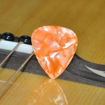 100pcs/lot 0.46mm 0.71mm Orange Pearl Celluloid Guitar Picks Plectrums for Acoustic Electric Guitar Bass metal guitar capo with bridge pin remover fit for acoustic electric guitar bass ukulele mandolin soprano concert tenor baritone